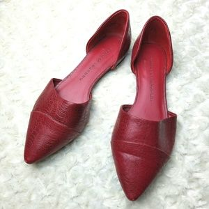 Chinese Laundry Textured D'Orsay Flat Red